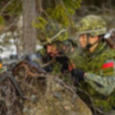 Des membres du Régiment en Norvège dans