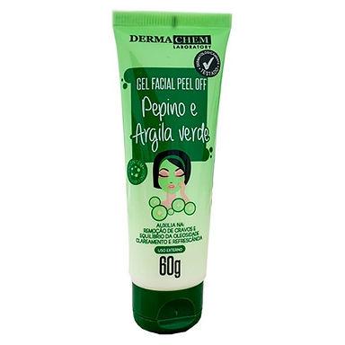 Gel Facial Peel Off Pepino e Argila Verde Dermachem