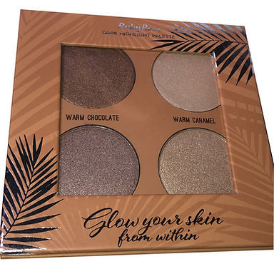 Paleta de Iluminador Glow Your Skin Dark Ruby Rose