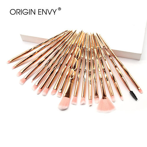 Kit de Pincéis de Maquiagem Rosé Gold  Origin Envy