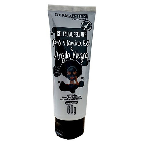 Gel Facial Peel Off Pró-Vitamina B5 e Argila Negra Dermachem