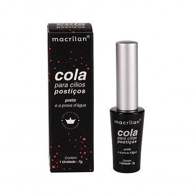 Cola para cílios postiços preta Macrilan