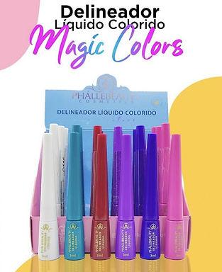 Delineador Líquido Colorido Magic Colors Phállebeauty