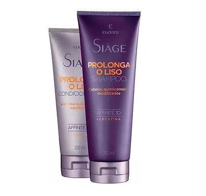 Kit Eudora Siàge Prolonga O Liso: Shampoo + Condicionador