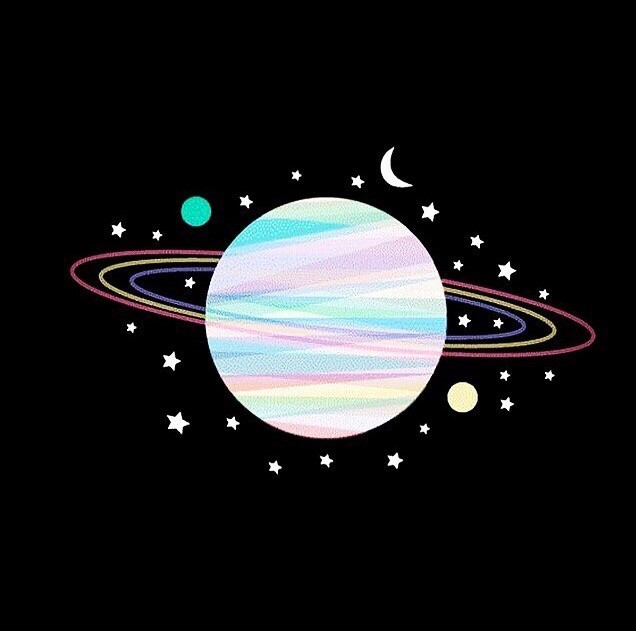 Saturn+capricorn+moon+stars+planets+new+moon