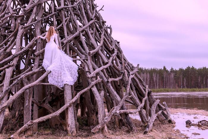 Konstanin Kopach image woman in woods