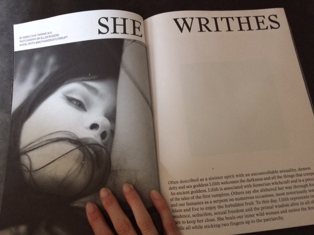 She Writhes (and Writes)