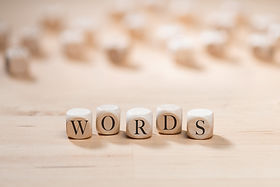 Words word on wooden cubes. Words concep