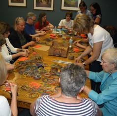 Volunteers at gala workshop