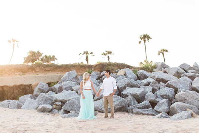 Beach & Garden Engagement Session at Washington Oaks Garden State Park | St. Augustine, FL