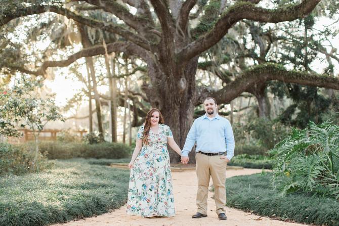 Washington Oaks Engagement Session | John & Kaeyla | St. Augustine FL