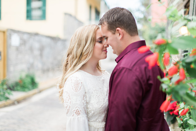 Festive Engagement Session in Historic St. Augustine, FL