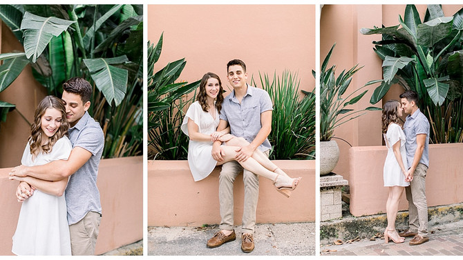 Golden Hour Engagement Session in Downtown St. Augustine, Florida