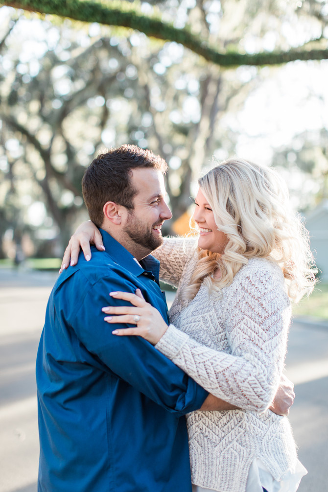 Christian & Amanda's Adorable Engagement Session in Downtown St. Augustine, FL