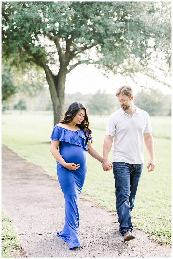 Golden Hour Maternity Session at Camp Milton Historic Preserve