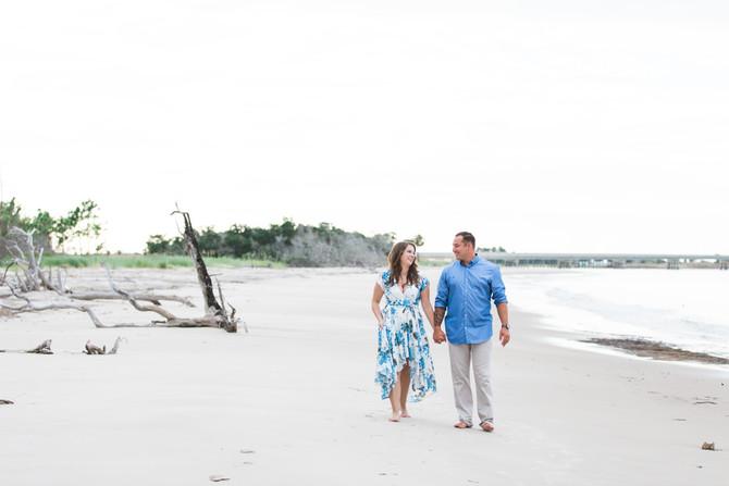 Romantic Driftwood Beach Engagement Session At Big Talbot Island