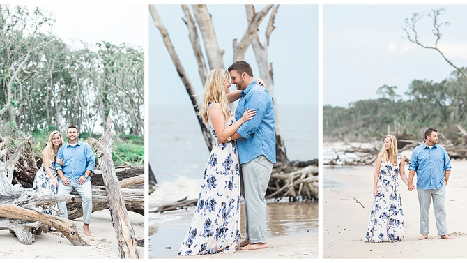 Beautiful Beach Engagement Session at Big Talbot Island | Jacksonville, FL