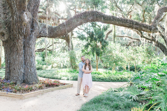 Jeff & Heather's Dreamy Engagement Session at Washington Oaks Garden State Park, St. Augusti