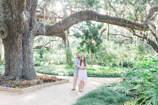 Jeff & Heather's Dreamy Engagement Session at Washington Oaks Garden State Park, St. Augusti