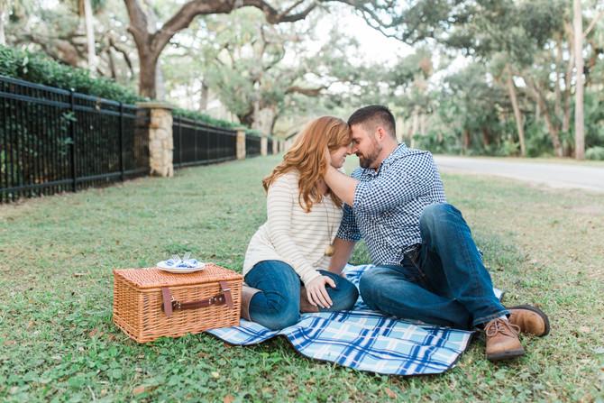 Charming Engagement Session at Washington Oaks Garden State Park, St. Augustine, FL