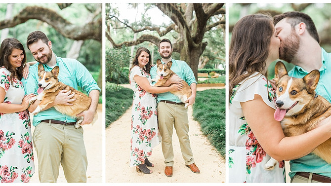 Why You Should Always Include Your Dog In Your Engagement Photos | Washington Oaks Garden State Park