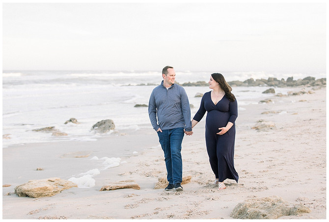Beautiful Beach Maternity Session in Palm Coast