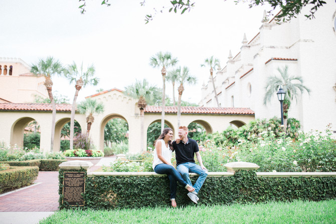 Kevin & Moriah |  Engagement Session at Rollins College in Winter Park, FL