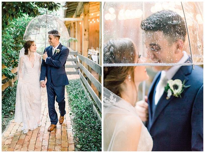 Romantic Rainy Wedding at The Delamater House in New Smyrna, FL