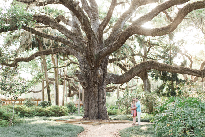 Sweet Spring Engagement Session at Washington Oaks Garden State Park