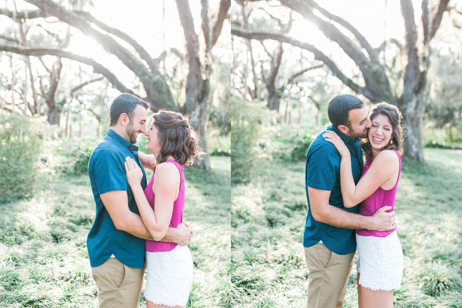 Alex + Andrea | Engagement | Washington Oaks Garden State Park | Palm Coast, FL