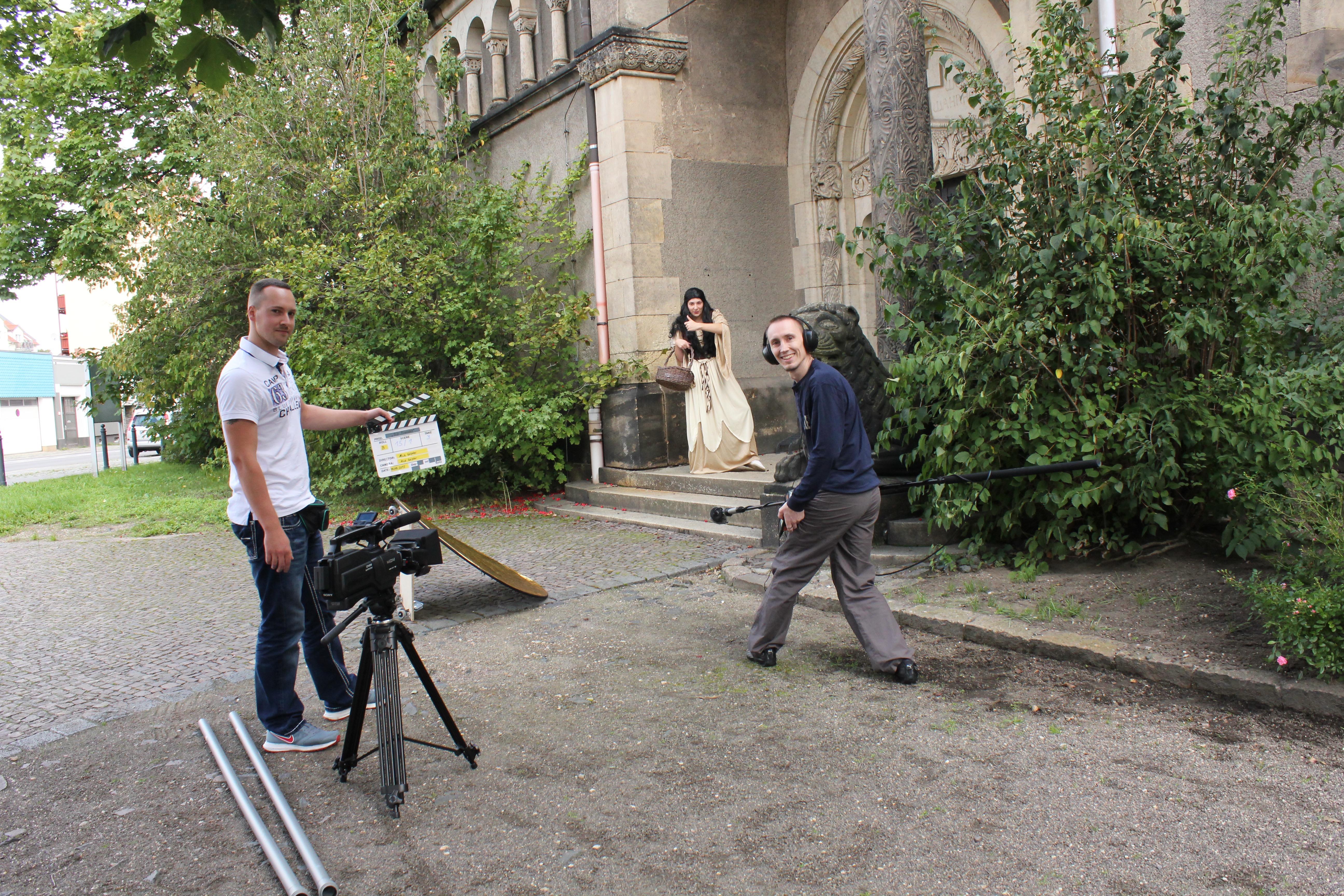 Filmdreh einer Mittelalter-Szene