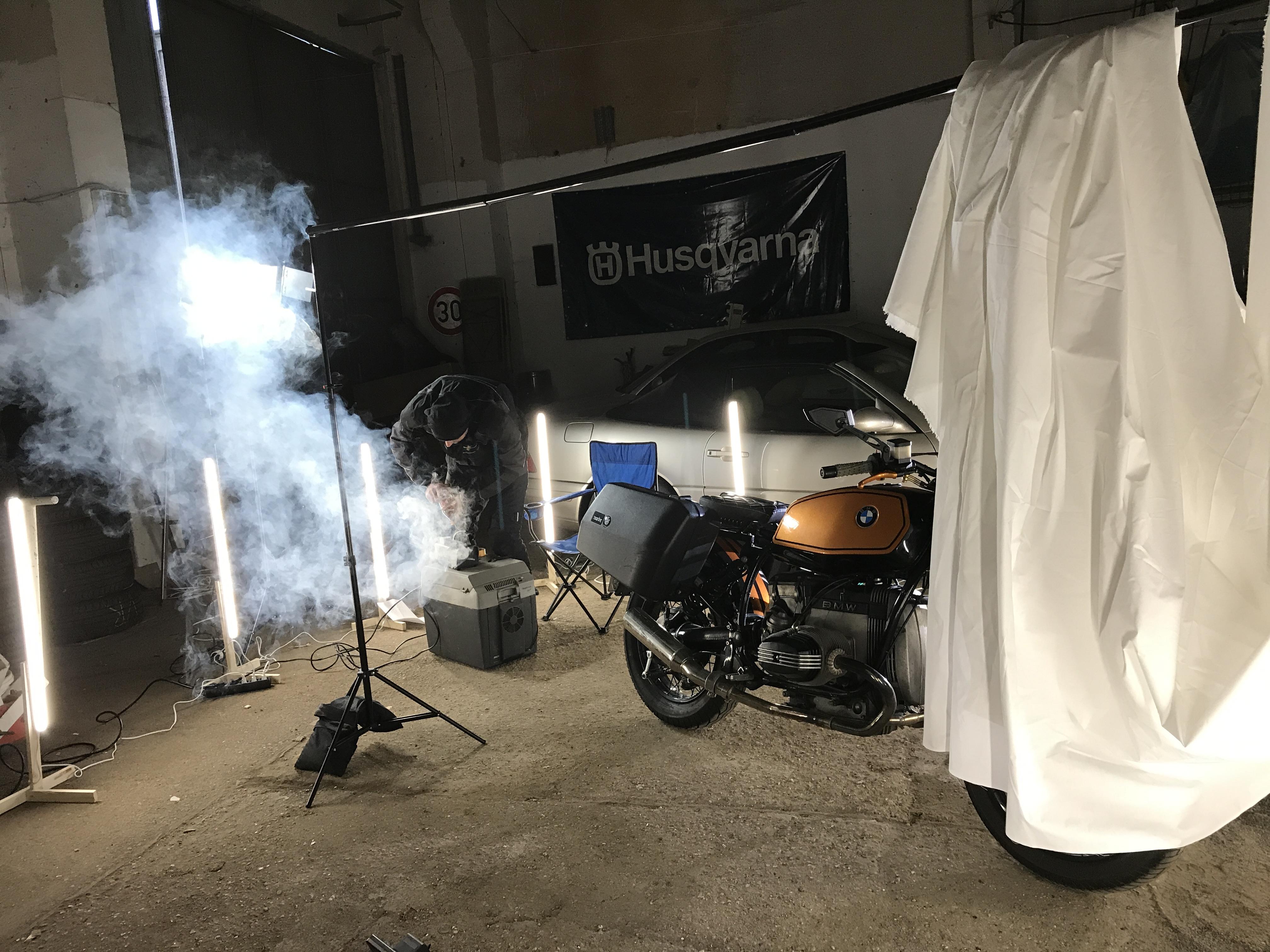 Innendreh Inszenierung Bike