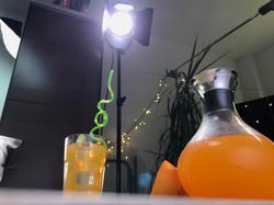Dreh mit Tageslicht-Lampen