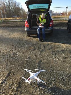 Vorbereitung Drohne für Wellner-Film