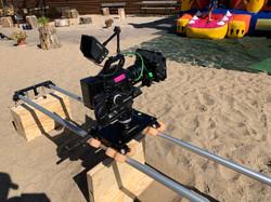 Kamera auf Slider-Dolly
