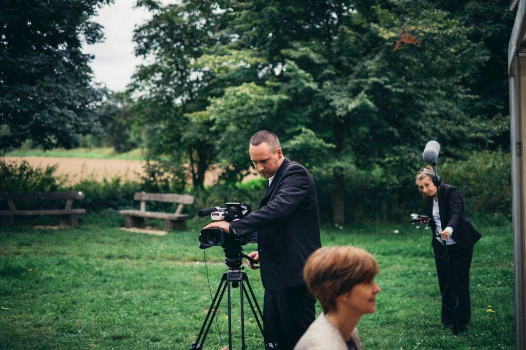 Dreh einer Hochzeit