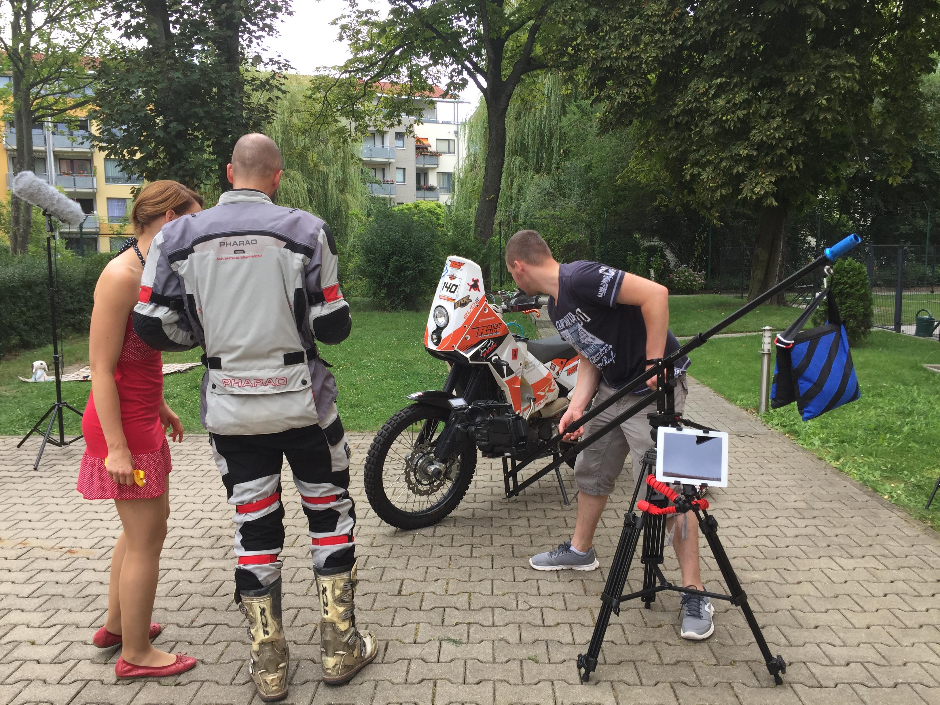 Einrichten des Kamera-Krans