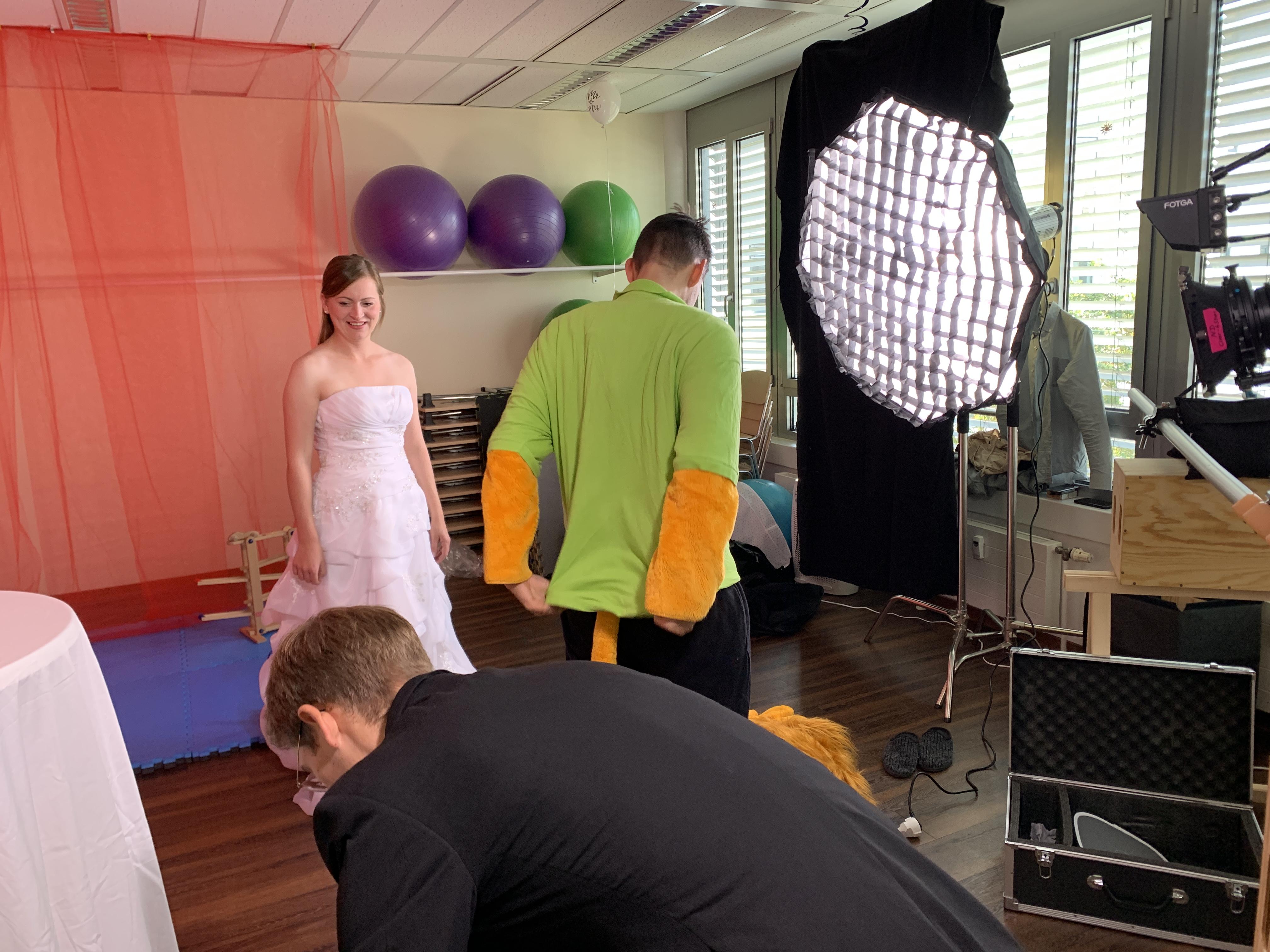 Dreh am Hochzeits-Set