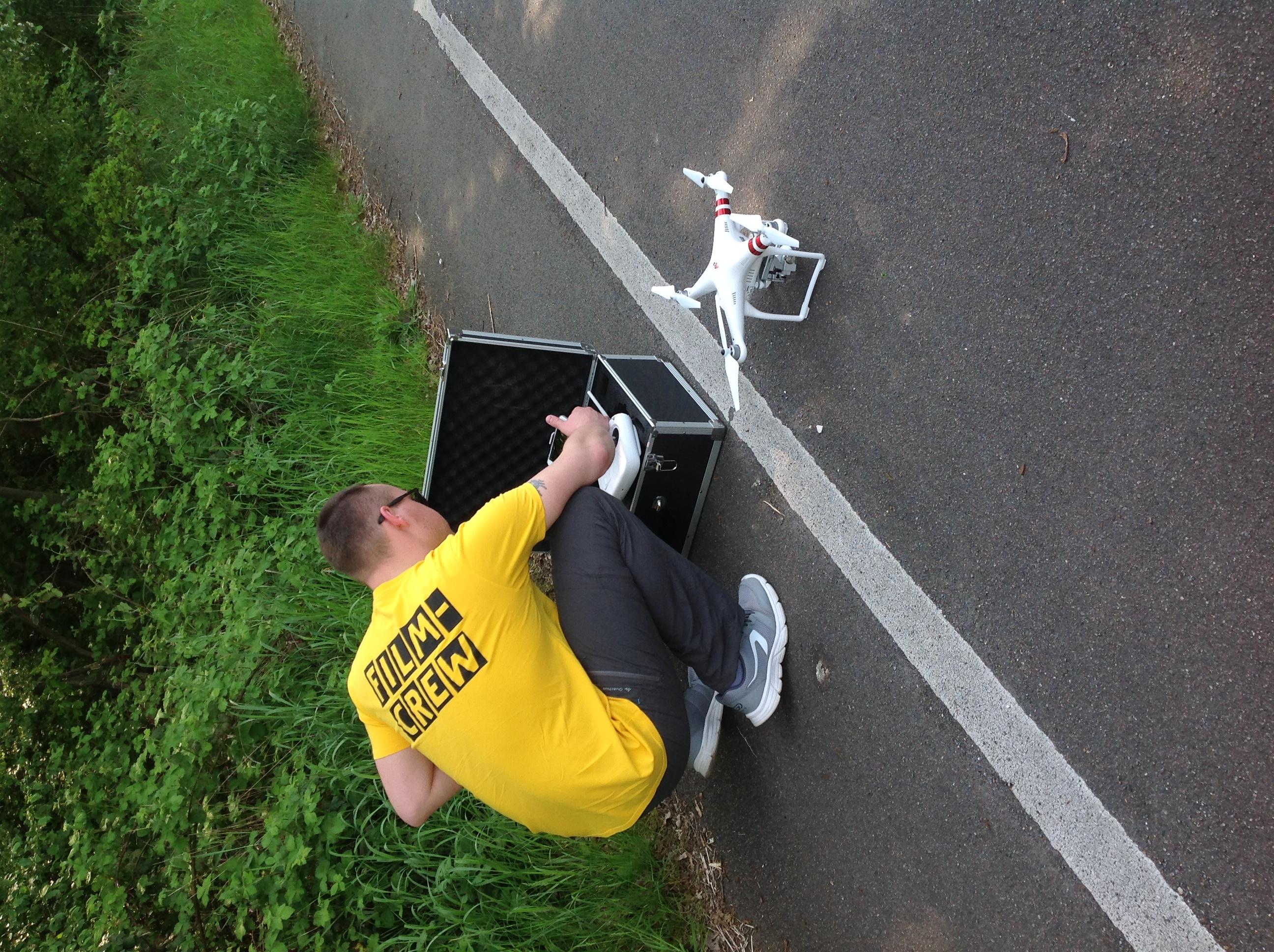 Vorbereitung Dreh mit Drohne