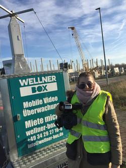 Dreh auf Baustelle für Wellner GmbH