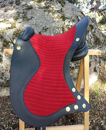 Baroque saddle cover.