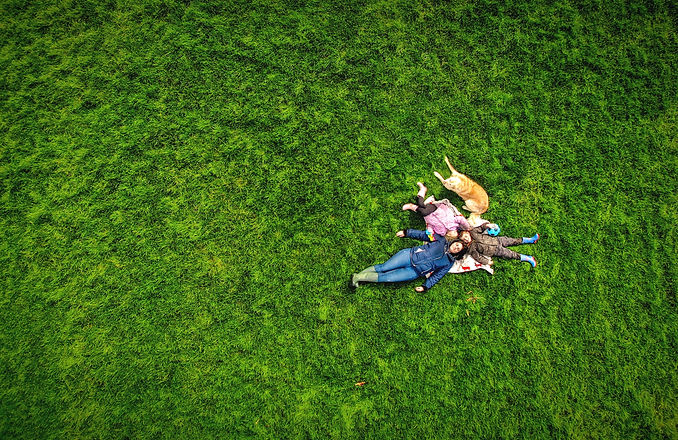 family drone photography