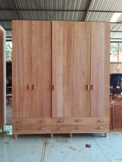 Boys Closet from Mahogany wood (200x60x2