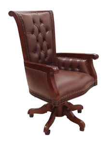 Big Salina Chair with brown leather Ben