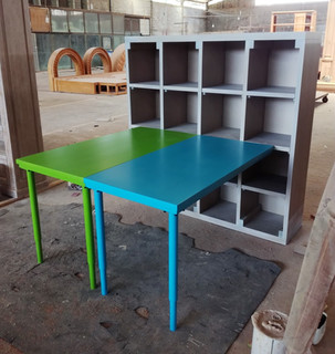 Study table + open bookcase (Study table