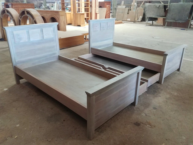 Bed for Kids from Mahogany wood (90x190,