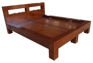 SBD-0243 double bed (160x200) color waln
