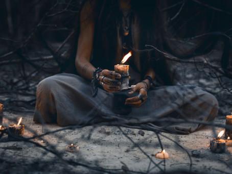 Happy Samhain, Happy Halloween and an Ancestor Ritual for the Full Hunter's Blue Moon