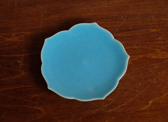 豆皿・青   blue mini plate