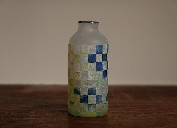 一輪挿し・格子黄色 | yellow lattice vase